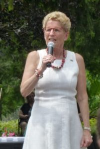 Ontario Premier Kathleen Wynne, at MP Robert Oliphant's 2017 Canada Day Celebration, Edwards Gardens, Toronto