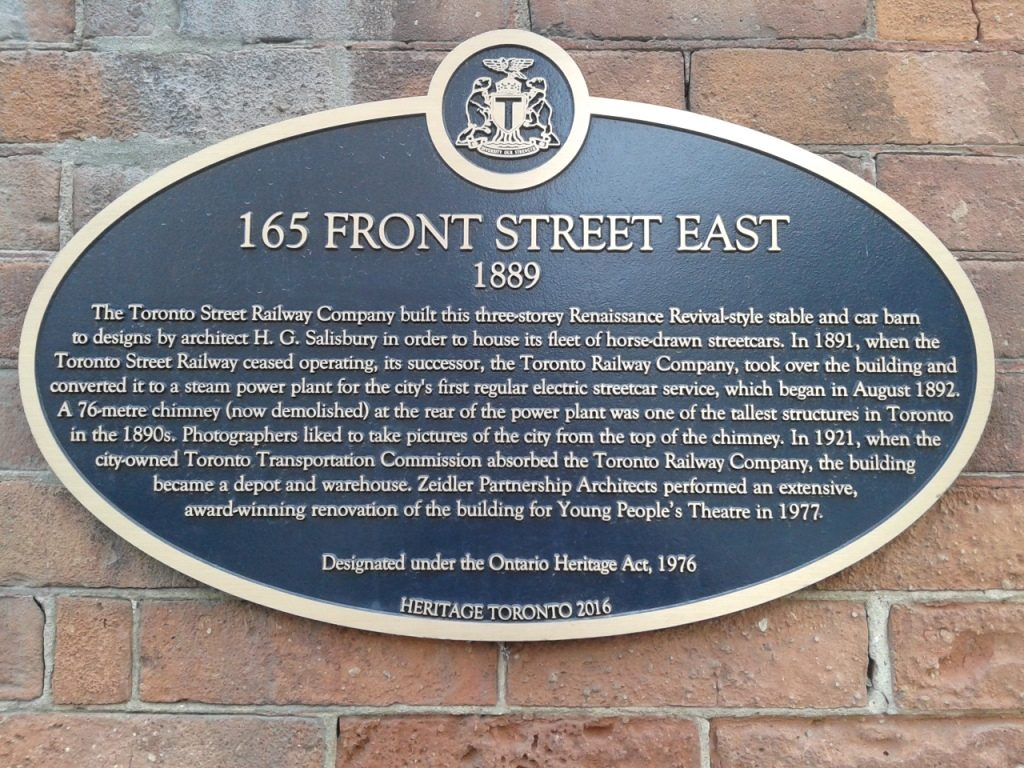 A recent acquisition in Toronto's St. Lawrence Neighbourhood, outside Young People's Theater. Toronto has so many stories!