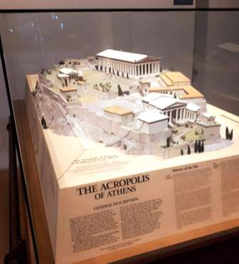 Model of the Acropolis - one of my favourite things at the ROM!