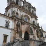 Exterior of Alcobaça Monastery's baroque facade (the largest church in Portugal), though the interior is Gothic.