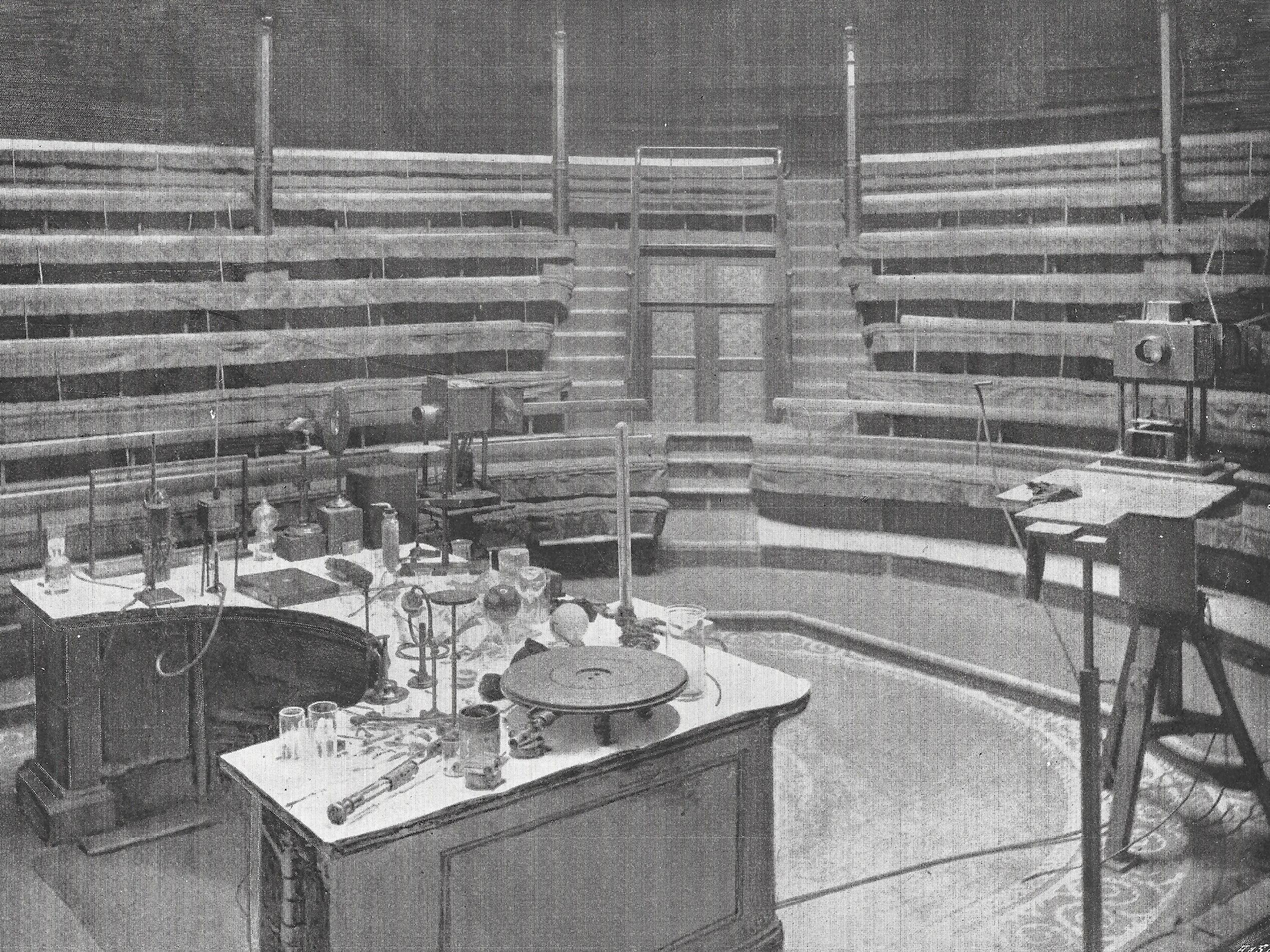 Faraday's Table in the Theatre of the Royal Institution