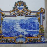 The grape juice is taken in barrels to the small town of Pinhão, to go by rail to Porto. The railway station has 24 1930s panels of azulejos, like this one, with scenes of the region.
