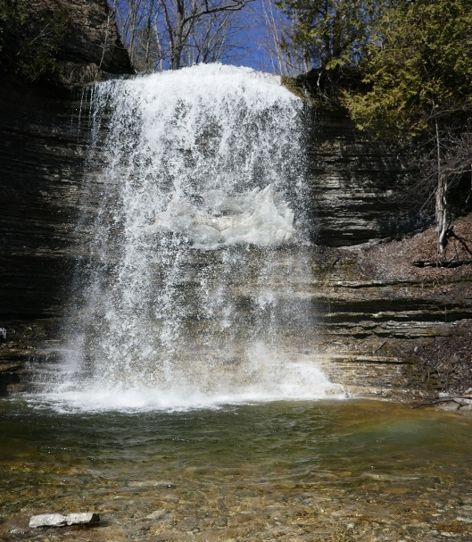 Jackson's Falls, with ice sculpture feature behind