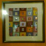 I had the bright idea that I could frame my own work too, simply, like this (and I still might!).