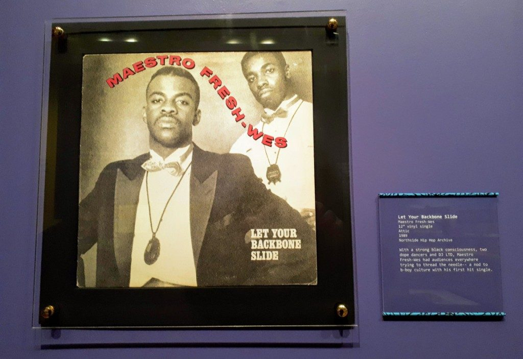 "Canadian Rapper Maestro Fresh-Wes, Let Your Backbone Slide, 12"" vinyl single, 1989. From current exhibition, For the Record."
