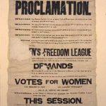 Suffragette Banner, 1908