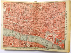 Map of The City of London, 1908